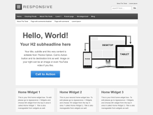 Responsive - Free WordPress theme