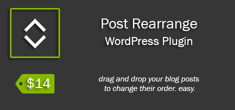 Posts rearrange – WordPress plugin